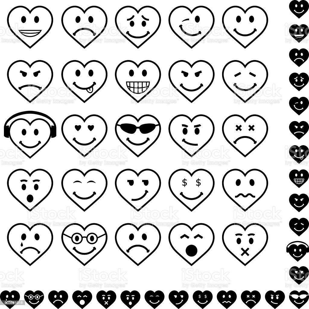Smiley Faces vector art illustration