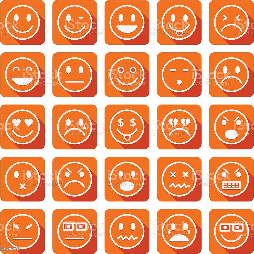 Smiley icons vector art illustration