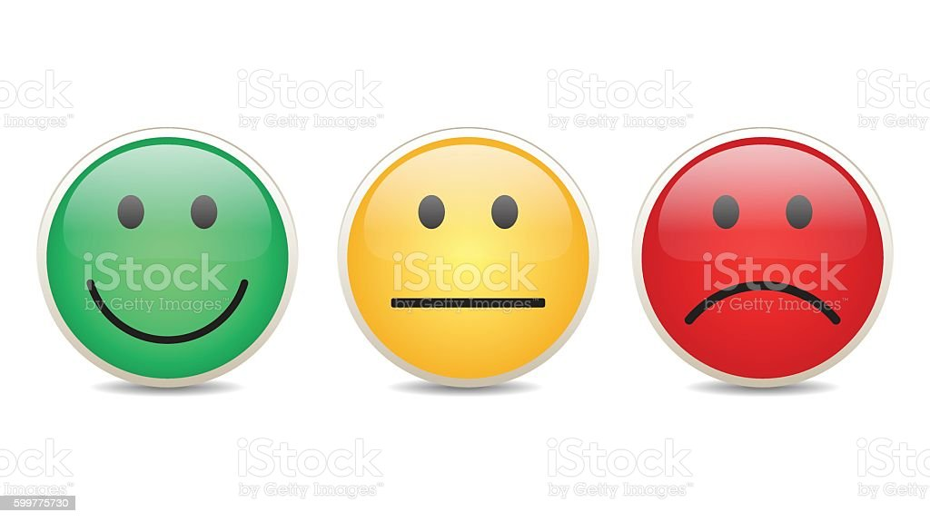 Smiley set survey vector vector art illustration