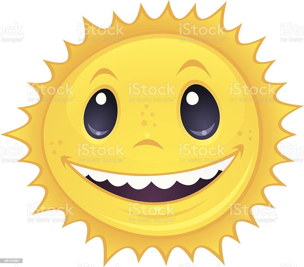 Smiley Sun vector art illustration