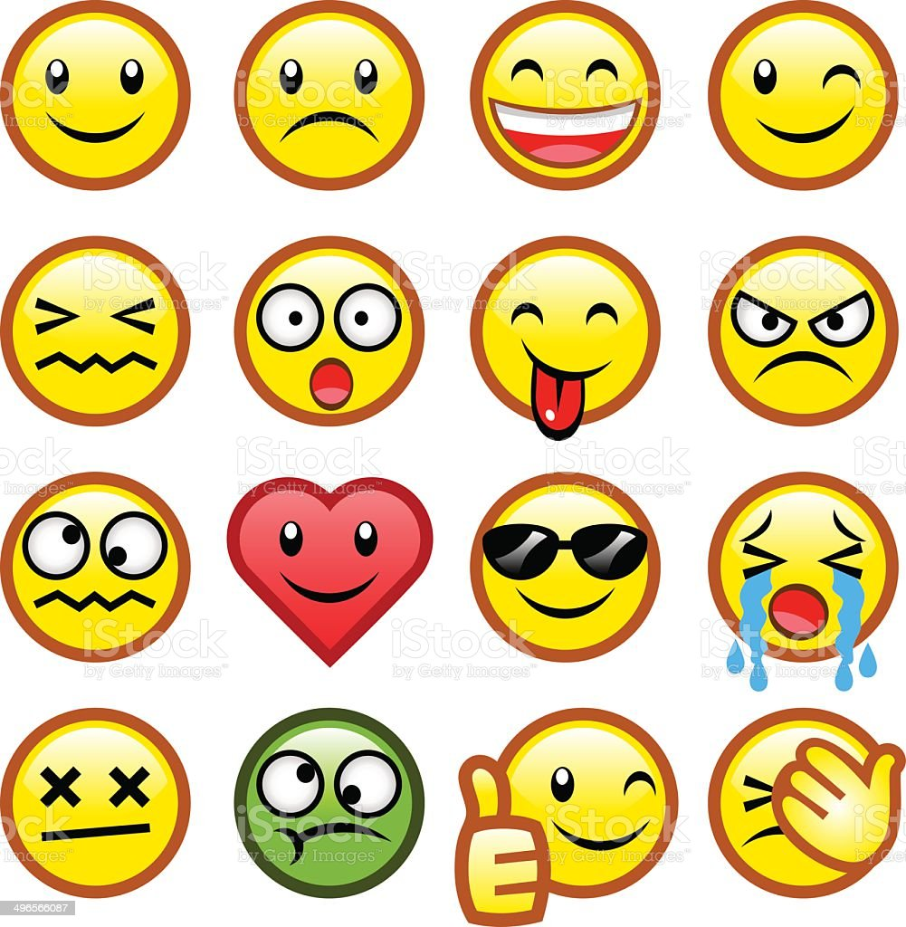 smileys collection vector art illustration