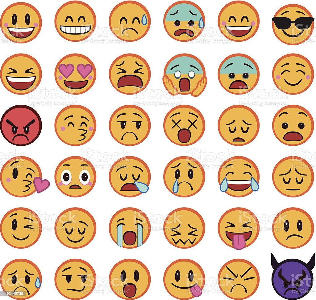 Smileys royalty-free stock vector art