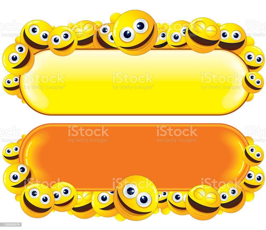 Smiling Banners royalty-free stock vector art