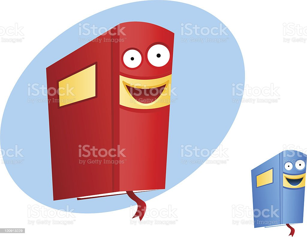 smiling book royalty-free stock vector art