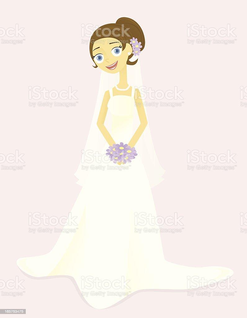 Smiling Bride vector art illustration