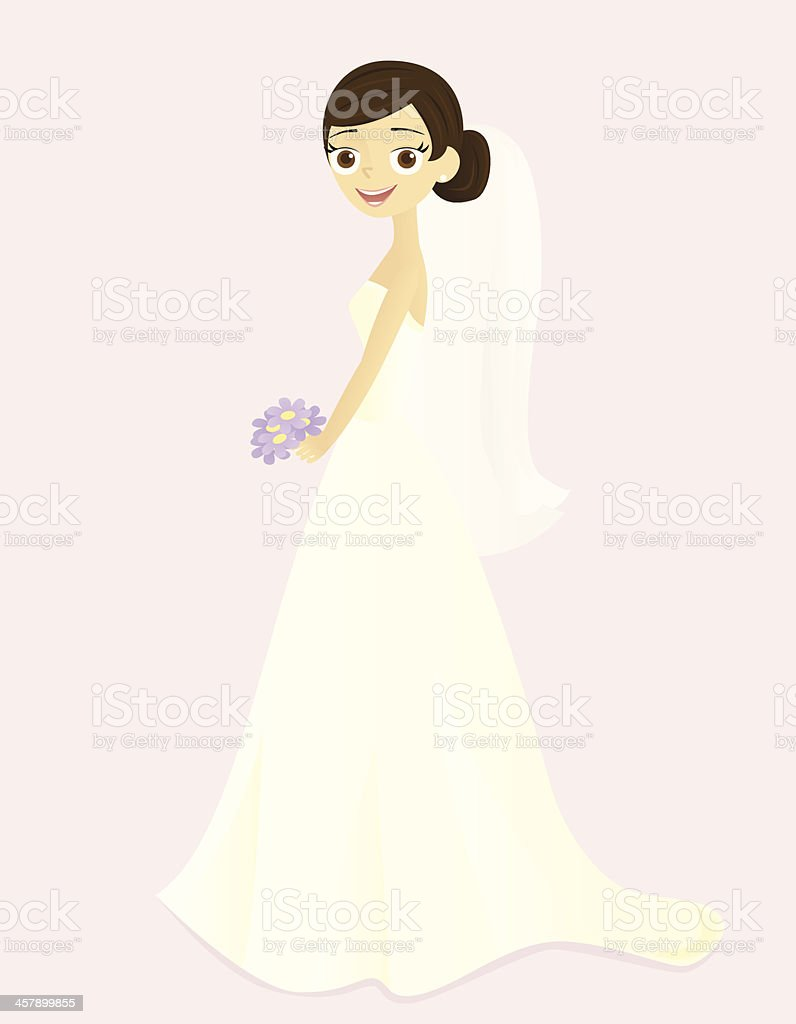 Smiling Bride royalty-free stock vector art