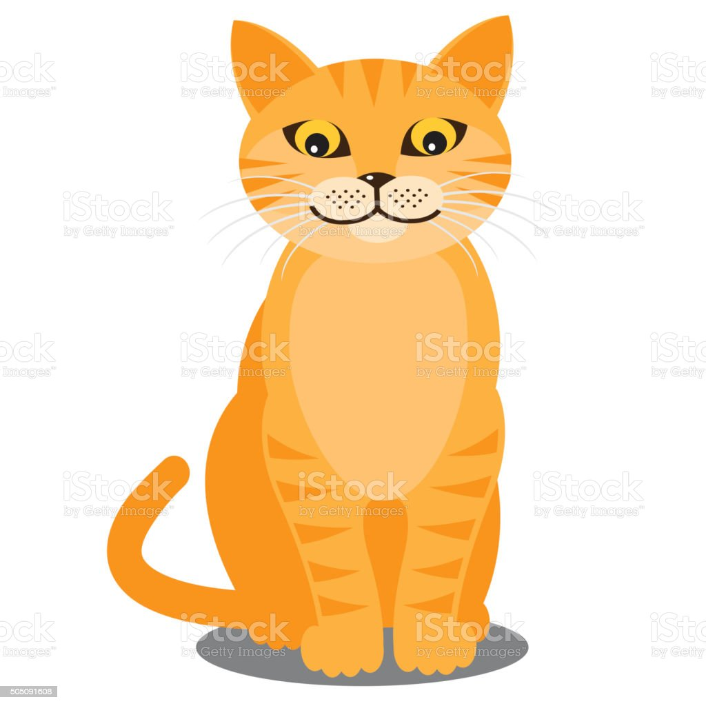 Smiling cat. Vector vector art illustration