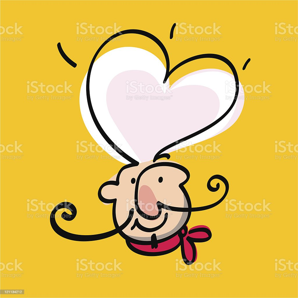 Smiling chef royalty-free stock vector art