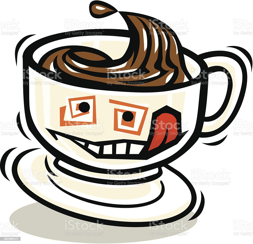 Smiling Cup of Coffee royalty-free stock vector art