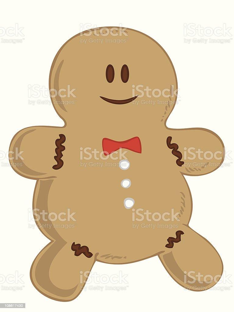 Smiling Gingerbread man. royalty-free stock vector art