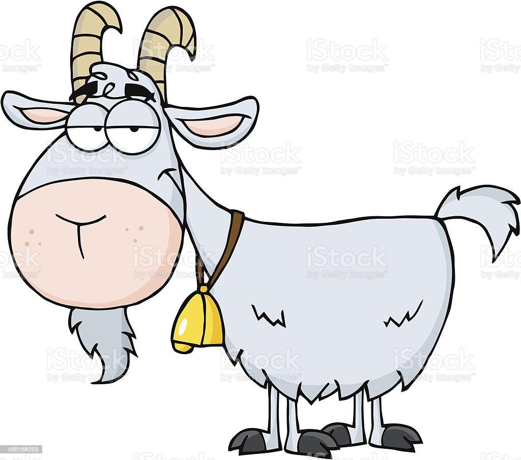 Smiling Goat vector art illustration