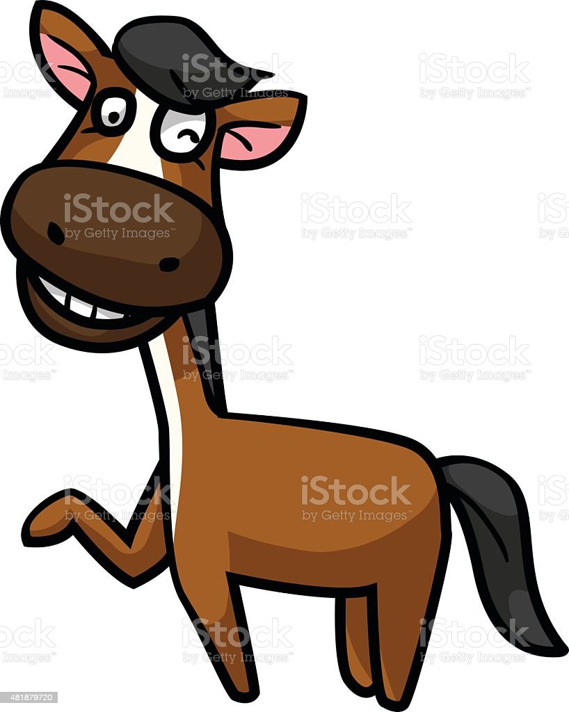 Smiling horse royalty-free stock vector art