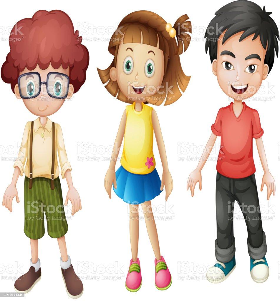 Smiling kids royalty-free stock vector art