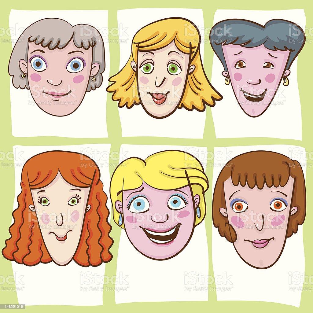 Smiling Ladies. royalty-free stock vector art