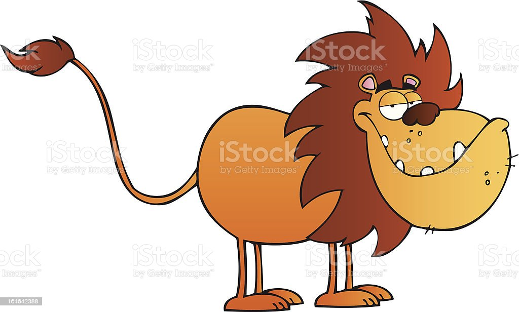 Smiling Lion royalty-free stock vector art