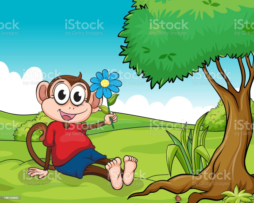 smiling monkey royalty-free stock vector art