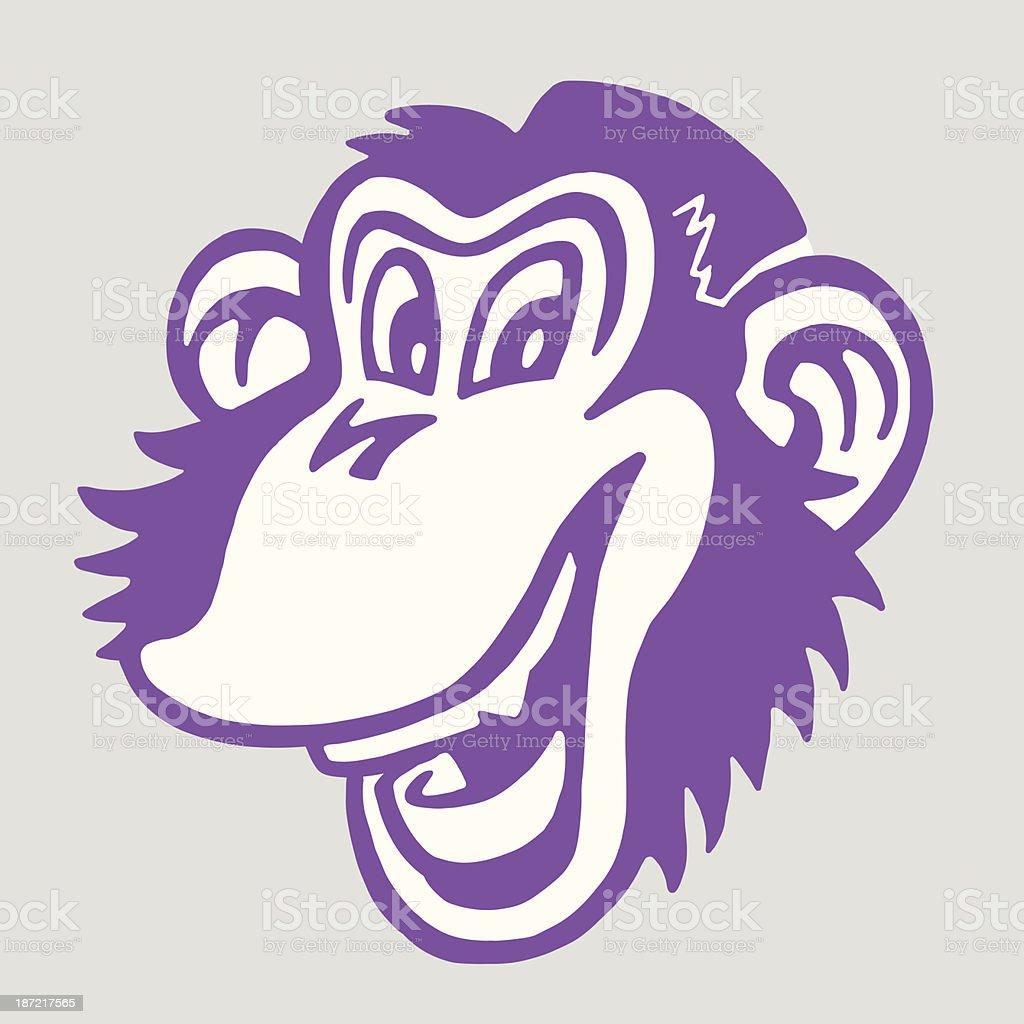 Smiling Monkey vector art illustration