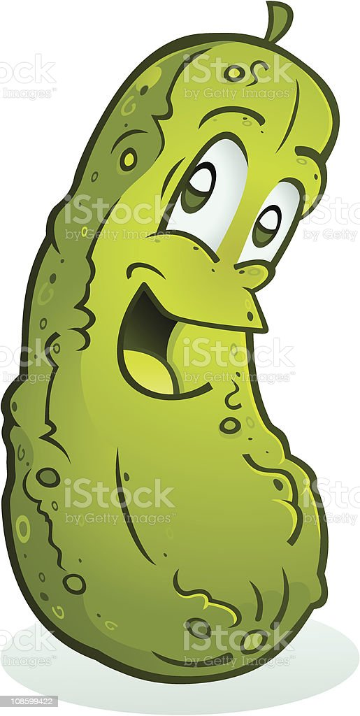 Smiling Pickle royalty-free stock vector art