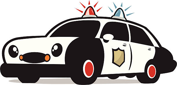 Police Car Clip Art, Vector Images & Illustrations - iStock