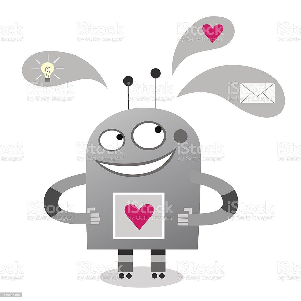 Smiling robot royalty-free stock vector art