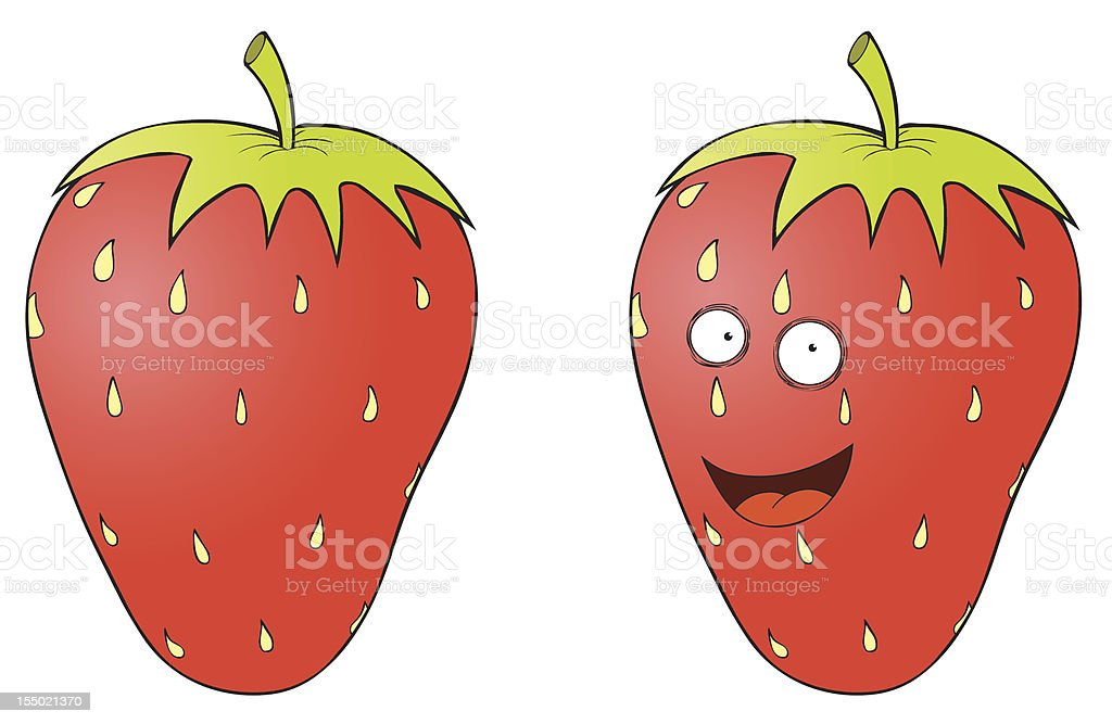 smiling strawberry royalty-free stock vector art