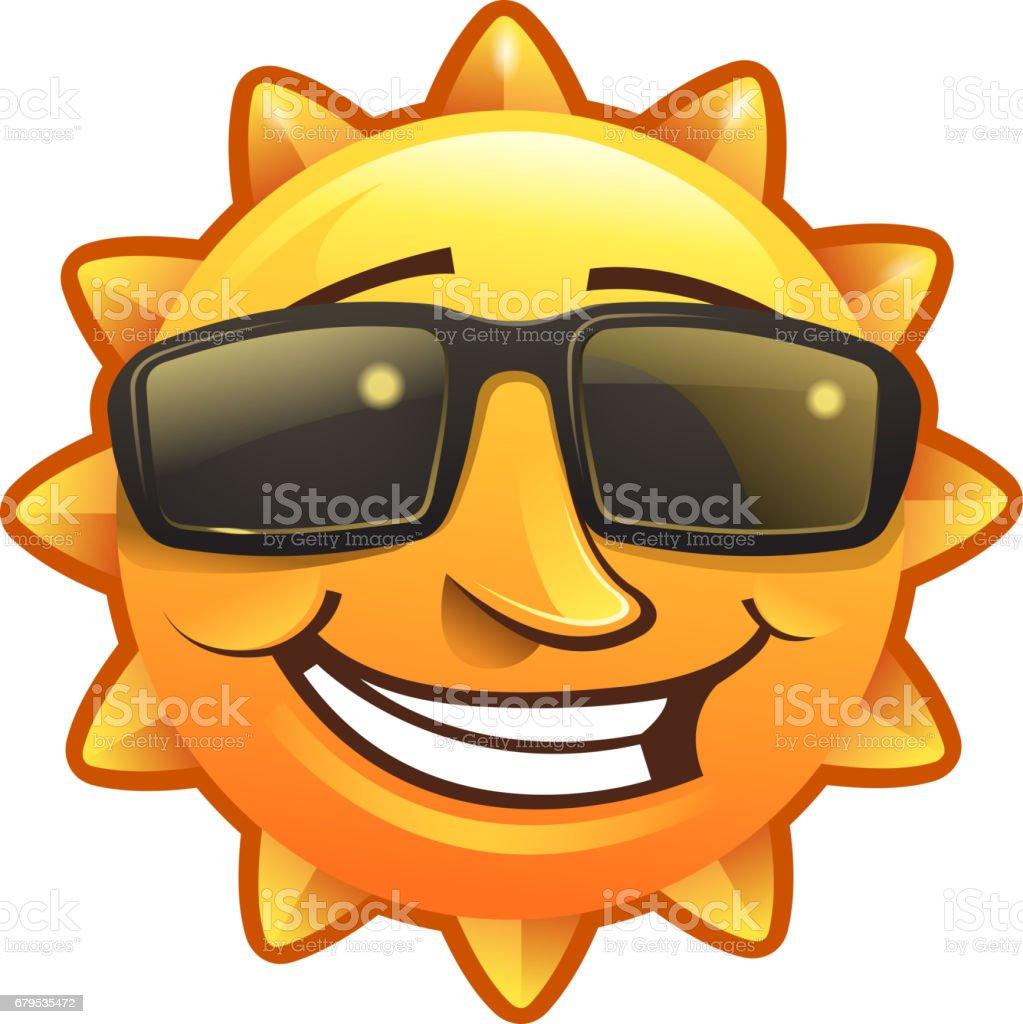 smiling summer vector art illustration