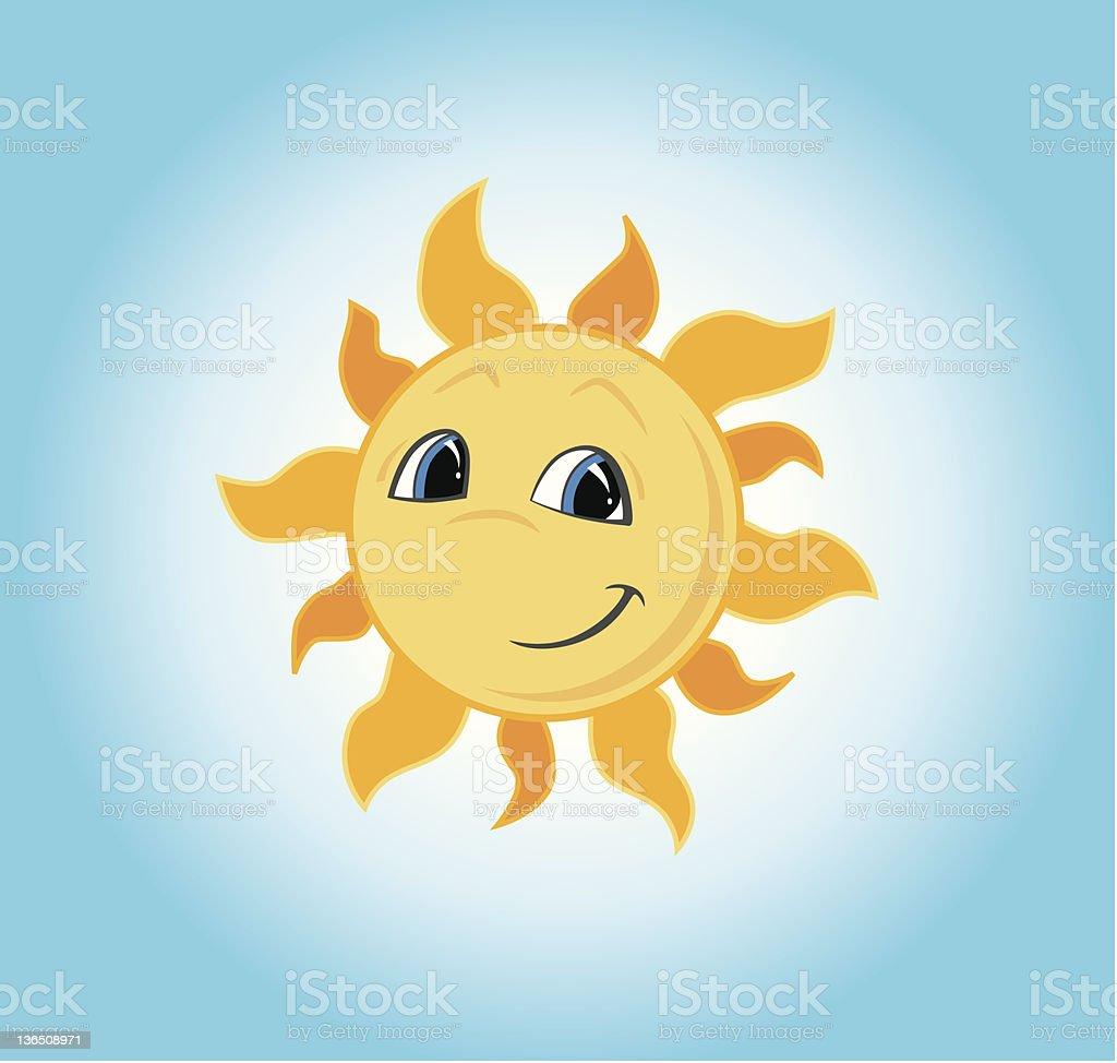Smiling Sun royalty-free stock vector art
