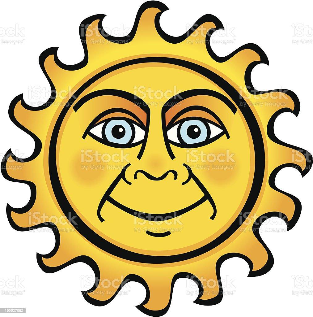 Smiling Sun vector art illustration