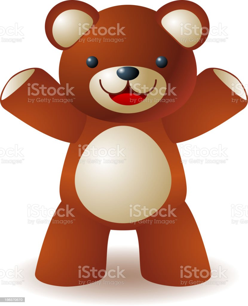 Smiling teddy bear royalty-free stock vector art