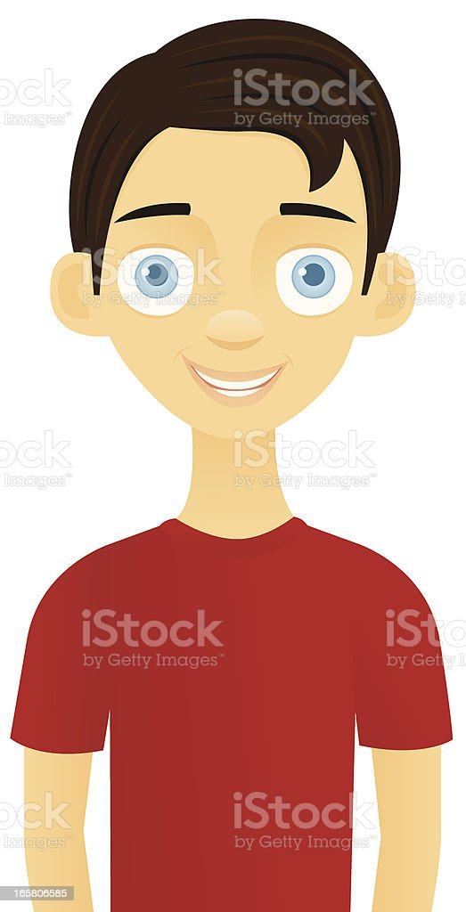 Smiling Teenage Boy royalty-free stock vector art