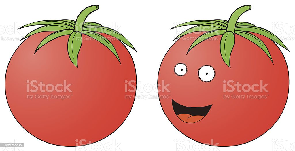 Smiling Tomato royalty-free stock vector art