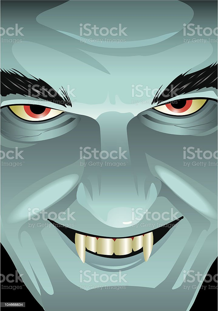 Smiling Vampire Face royalty-free stock vector art