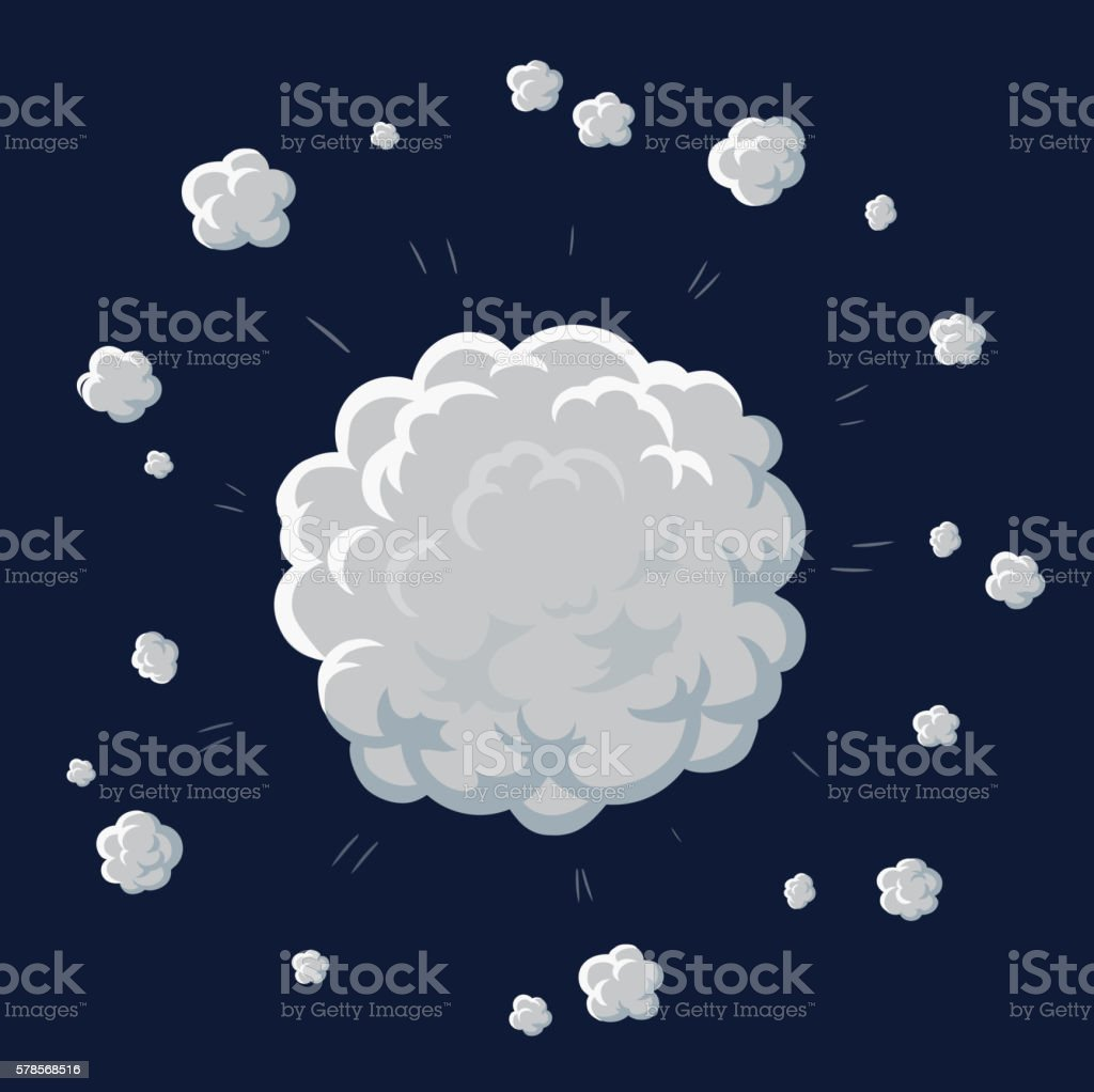 Smoke and dust illustration for game. Vector vector art illustration