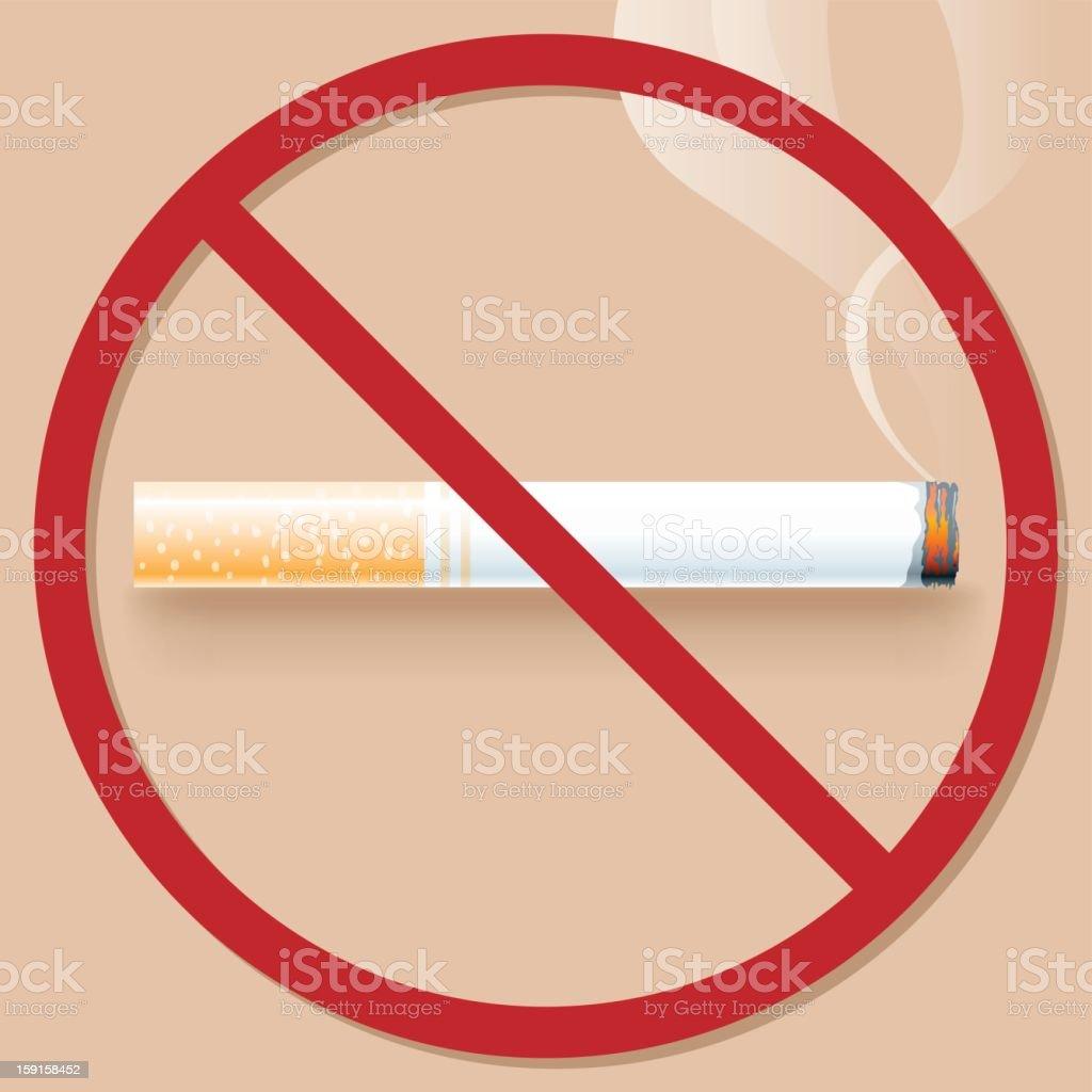 NO smoke royalty-free stock vector art