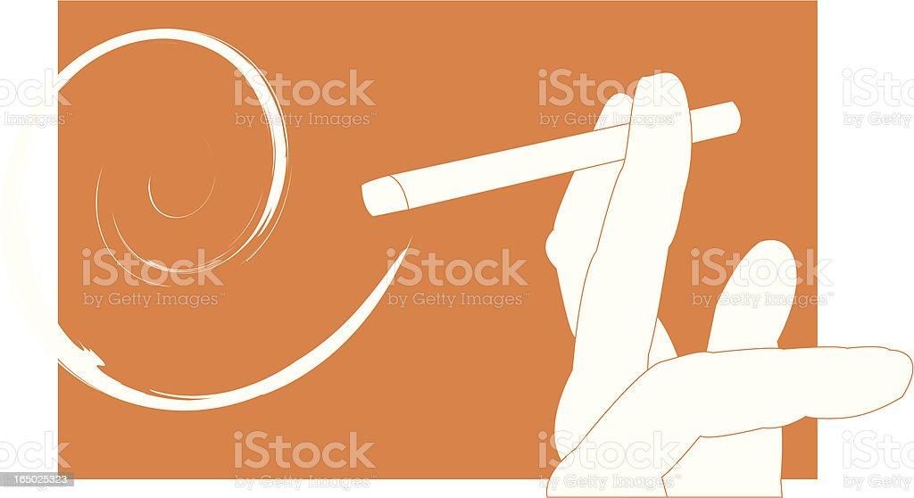 smoker (vector) royalty-free stock vector art