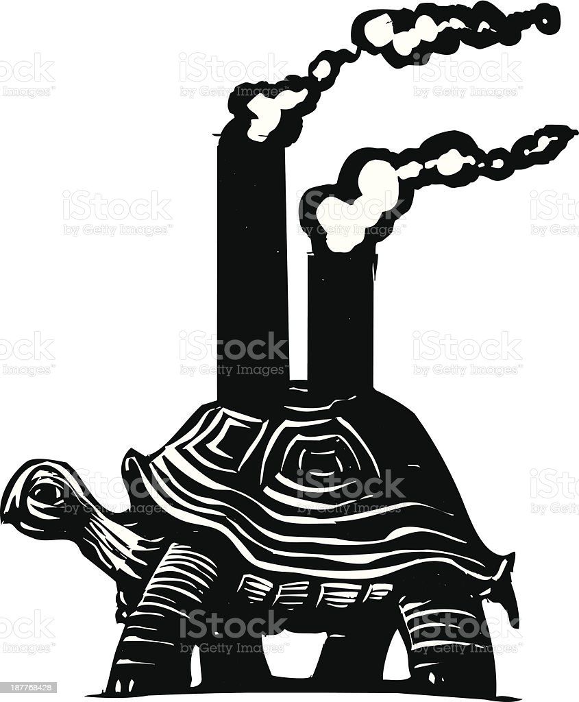 Smokestack Turtle royalty-free stock vector art