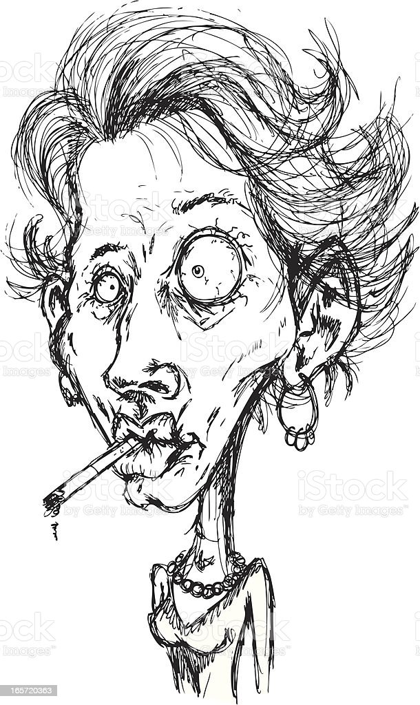Smokin' Lady royalty-free stock vector art