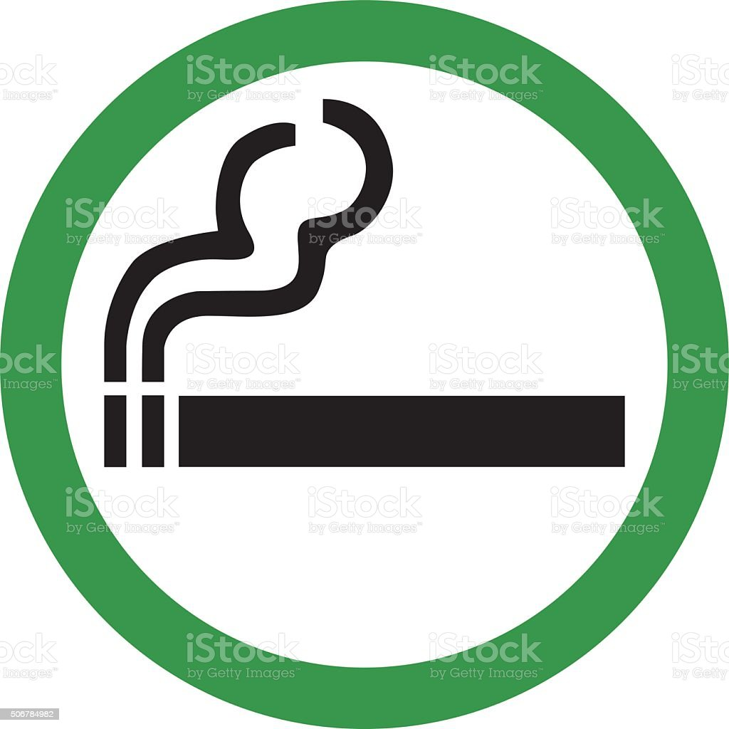 Smoking Area Sign vector art illustration