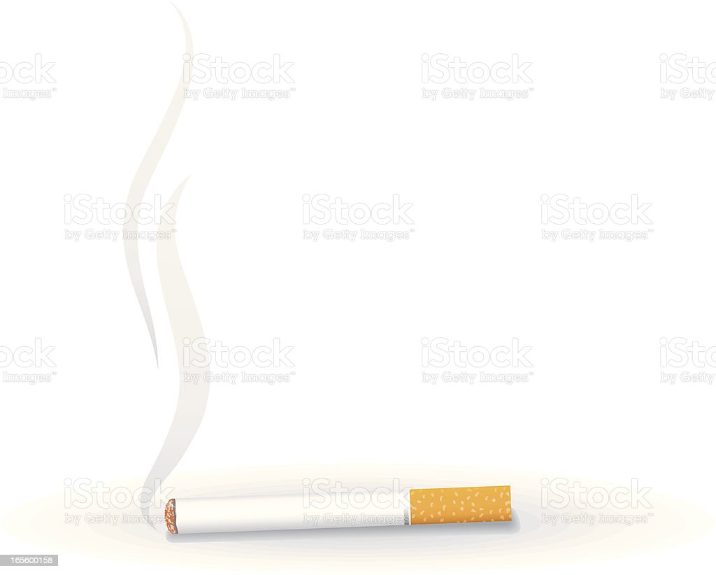 Smoking cigarette royalty-free stock vector art