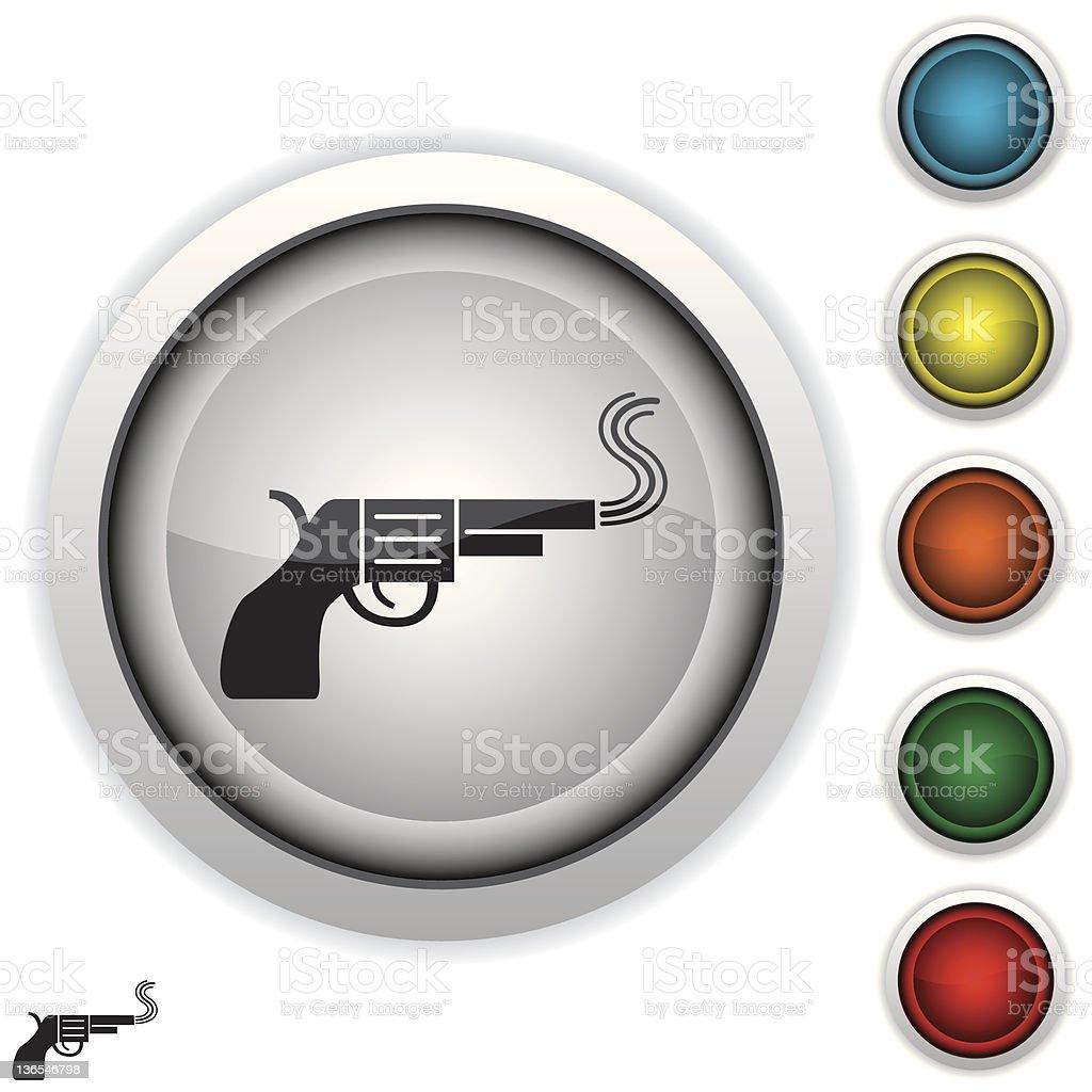 smoking gun icon vector art illustration