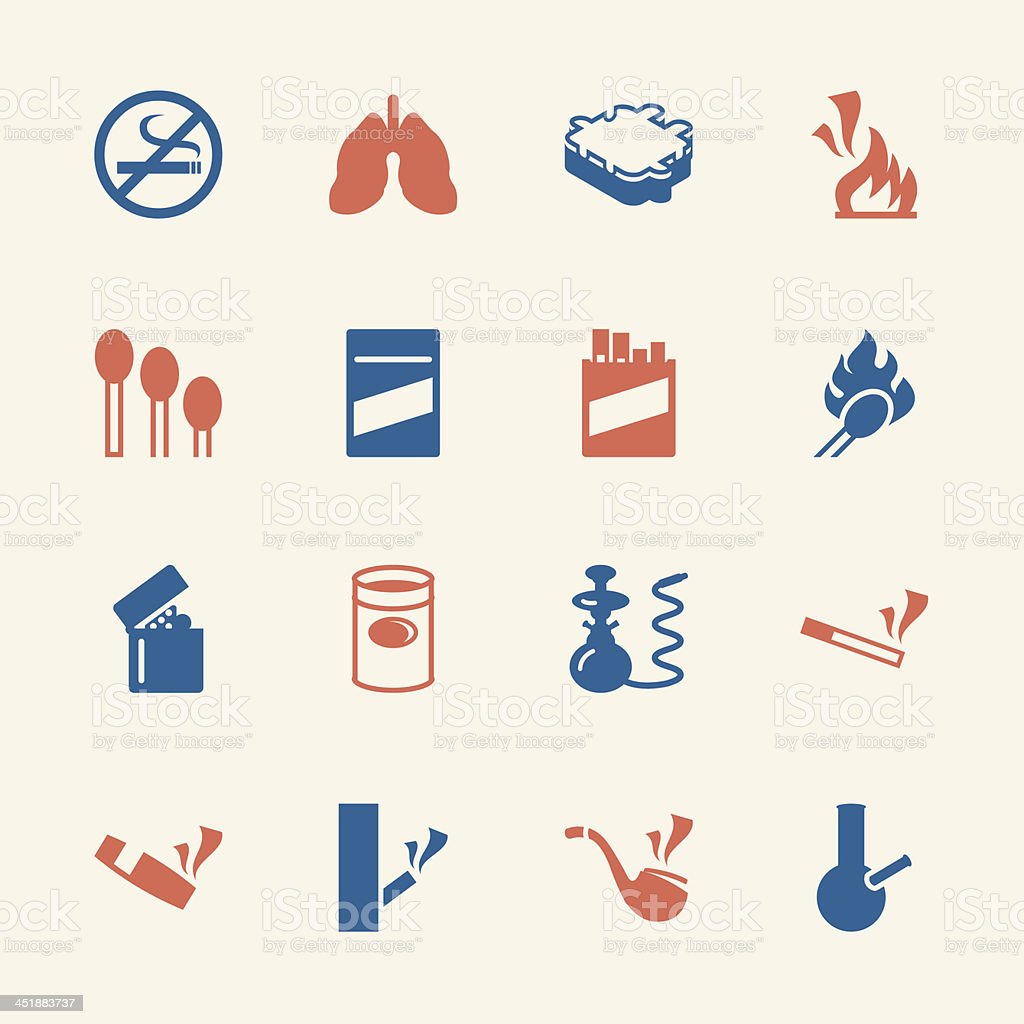 Smoking Icons - Color Series | EPS10 royalty-free stock vector art