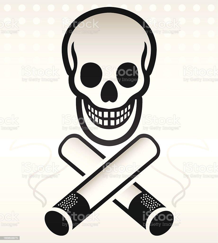 Smoking Kills Sign vector art illustration