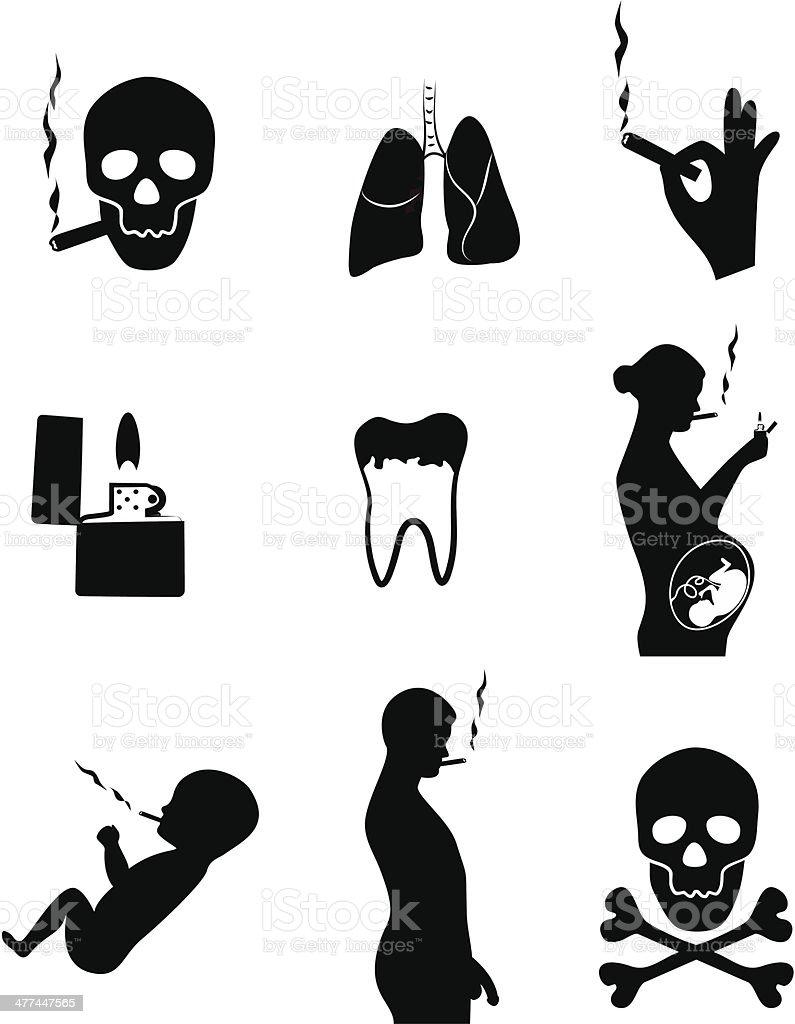 Smoking kills vector art illustration