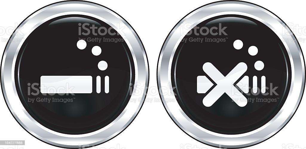 Smoking or Non-Smoking   The Blackest Icon Series royalty-free stock vector art