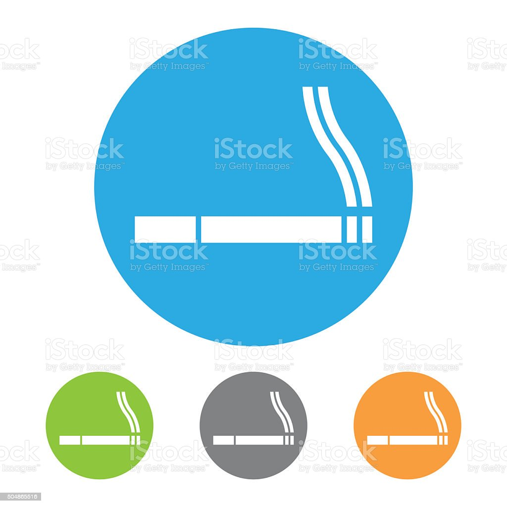 Smoking sign. Vector vector art illustration