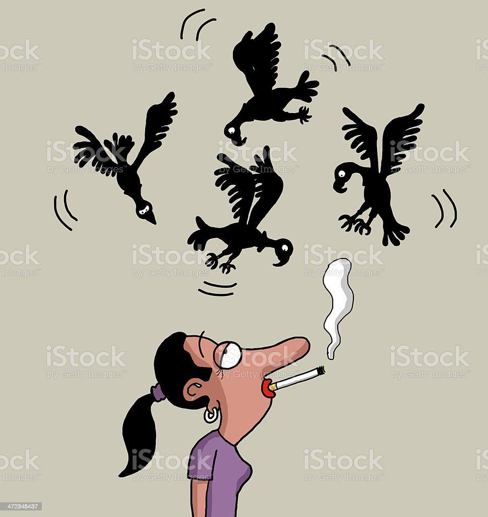 Smoking will kill you royalty-free stock vector art