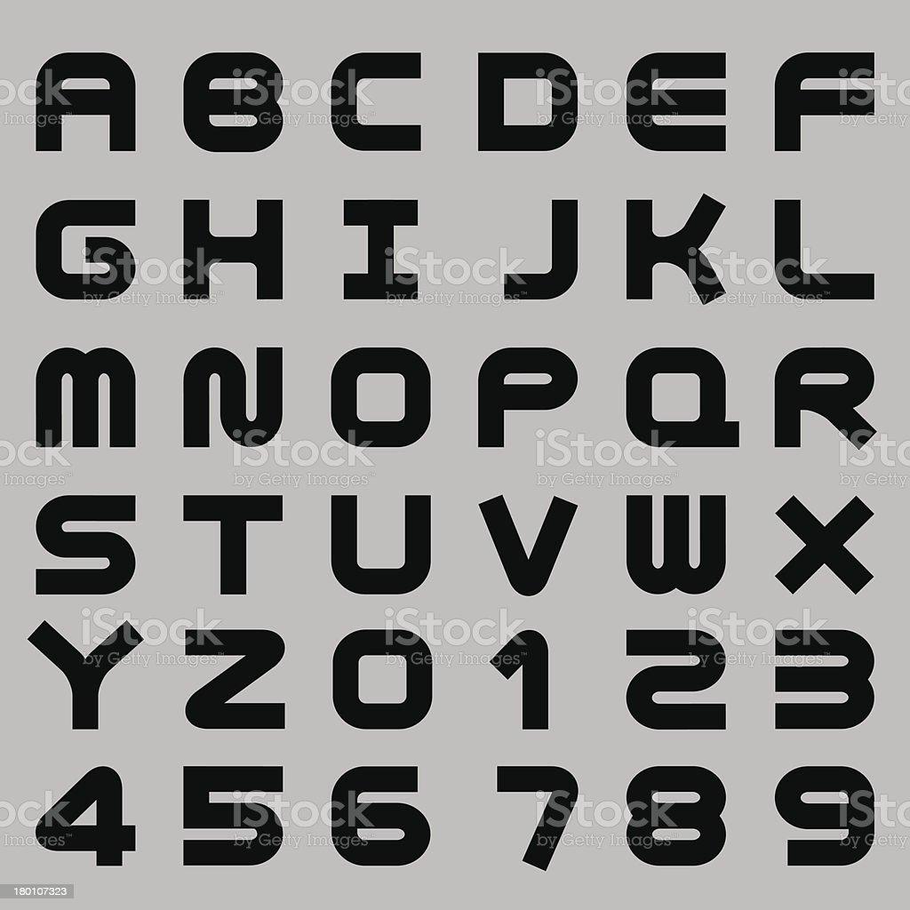 Smooth Alphabet Set royalty-free stock vector art