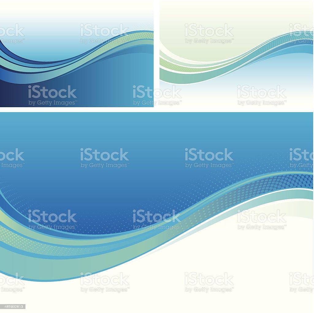 Smooth flow backgrounds vector art illustration