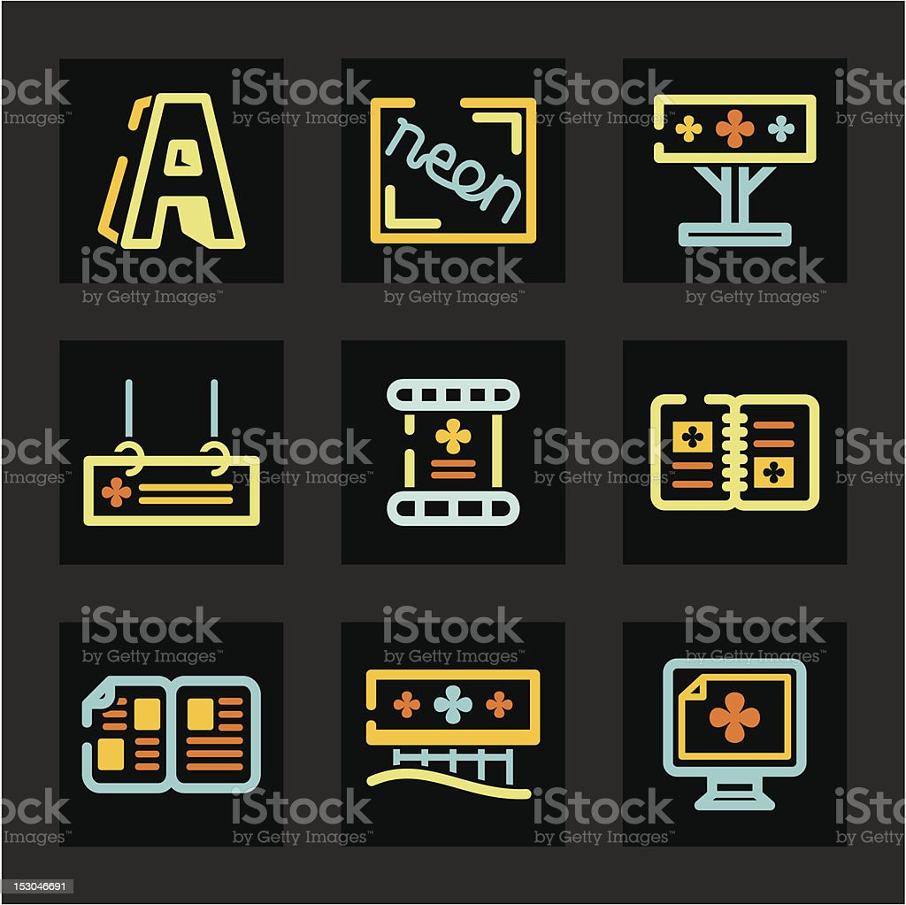Smooth Icon Series - Advertising royalty-free stock vector art