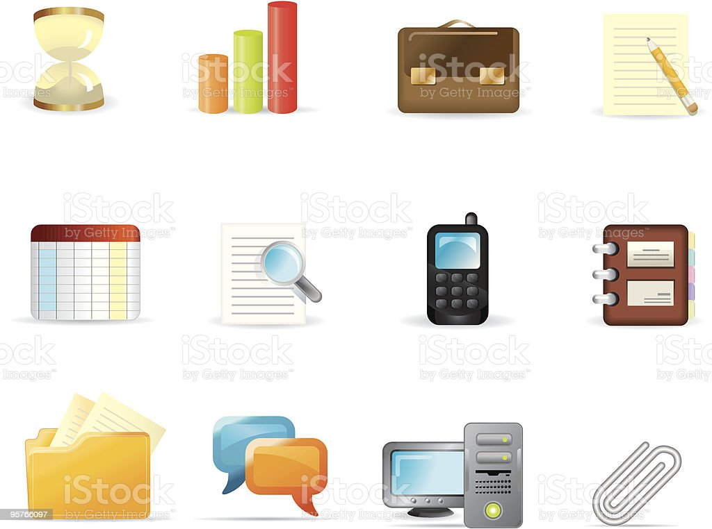 Smooth icon set - 2 royalty-free stock vector art